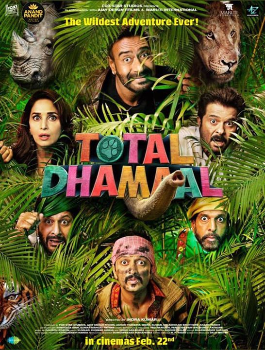 It's out!!! Watch Total Dhamaal at a theatre near you. . . #TotalDhamaal #AnandPandit #AnandPanditMotionPictures Ajay Devgn Anil S Kapoor Madhuri Dixit - Nene  Boman Irani Riteish Deshmukh
