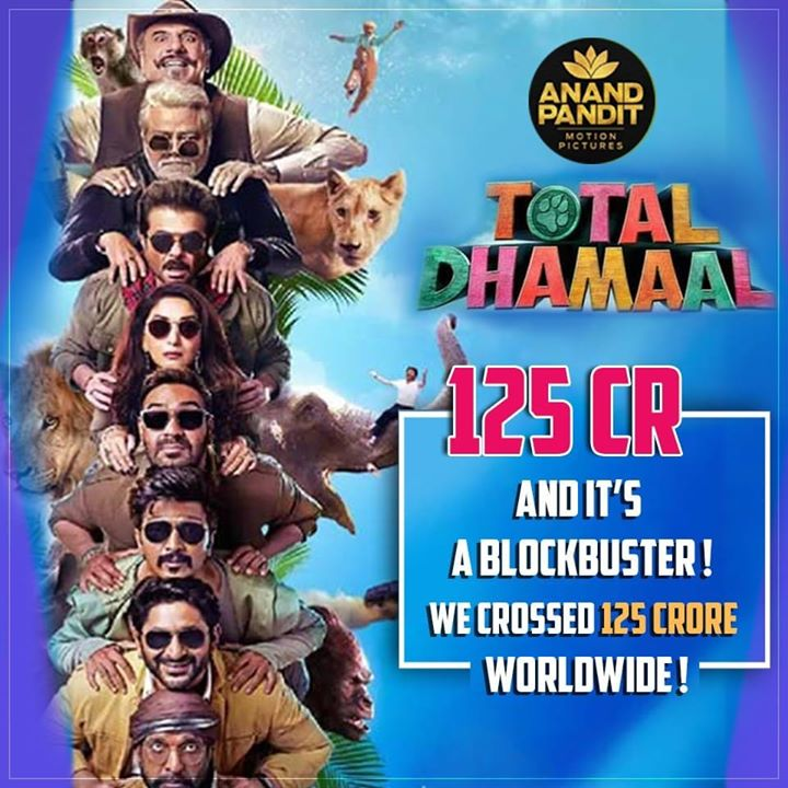 Each milestone is a celebration for us! Total Dhamaal has crossed 125 cr worldwide! . . #TotalDhamaal #AnandPandit #AnandPanditMotionPictures Ajay Devgn Anil S Kapoor Madhuri Dixit - Nene Arshad Warsi Javed Jaaferi Boman Irani Riteish Deshmukh Indra Kumar