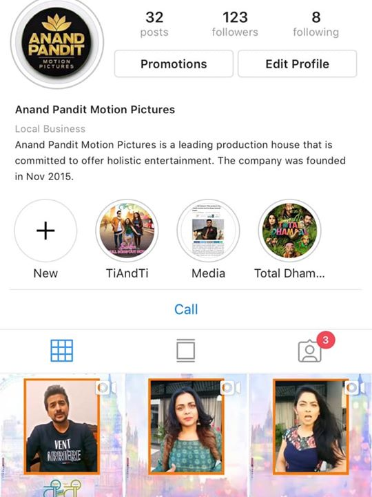 We are now on Instagram. You can follow us on @anandpanditmotionpictures on Insta!