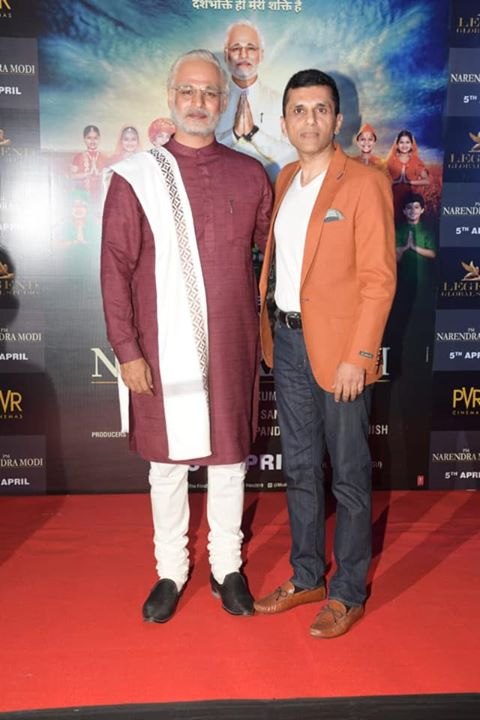 Anand Pandit and Vivek Anand Oberoi at the trailer launch of our upcoming biopic #PMNarendraModi.   #ModiTheFilm #Biopic #TrailerLaunch