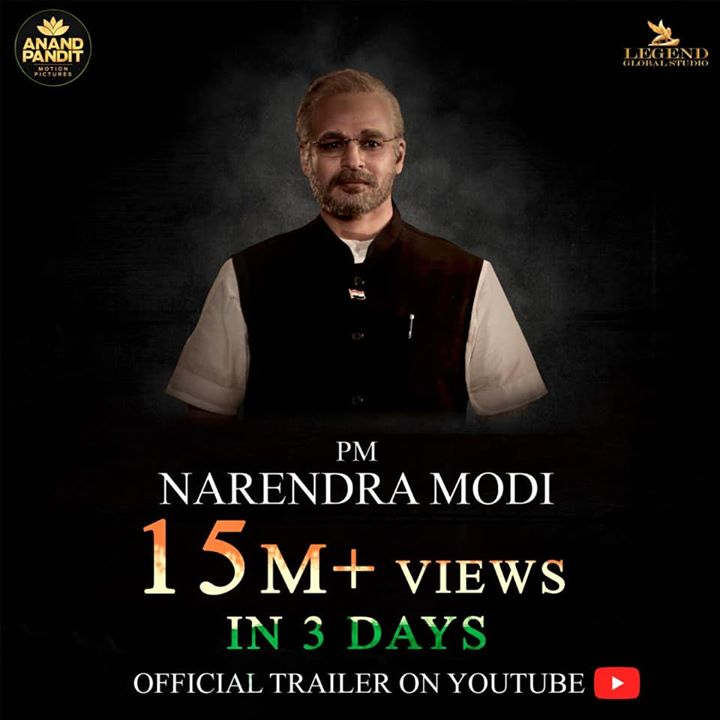 #PMNarendraModi trailer crosses 15 million plus views in just 3 days!!! Vivek Anand Oberoi Anand Pandit