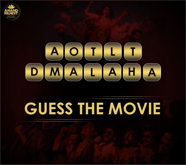 Can you unscramble the name of the movie? . . . #guessthemovie #unscramblethewords #bollywood #bollywoodmovie #comedymovie #apmp #anandpanditmotionpictures