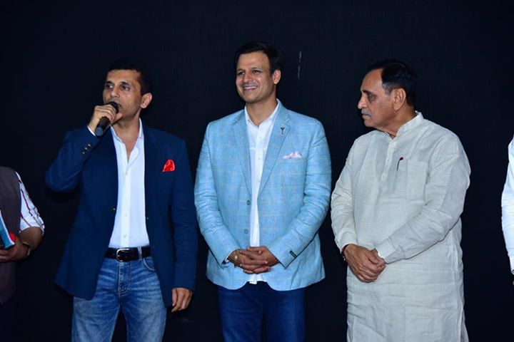 'PM Narendra Modi' is all set to release this week on May 24th! Chief Minister of Gujarat, Vijay Rupani, along with dignitaries watched the special screening yesterday in Ahmedabad. #PMNarendraModi #APMP Vivek Anand Oberoi
