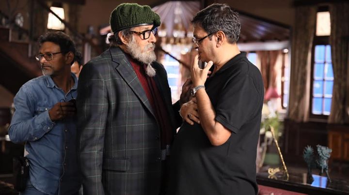The actor-director camaraderie.. Amitabh Bachchan #RumiJaffery #Chehre #ChehreBTS