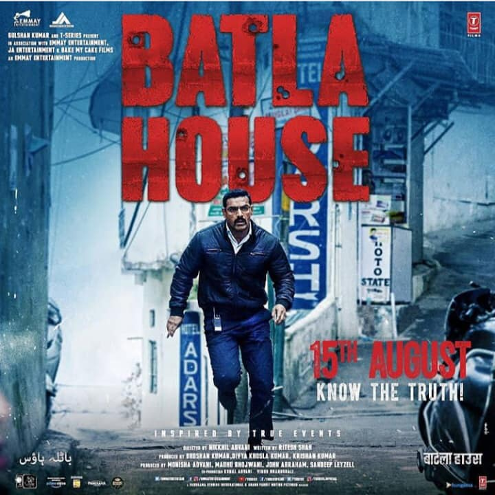 "Watch John Abraham's new avatar in our upcoming film ""Batla House"" releasing on 15th August at your nearest theatre!  Stay tuned! John Abraham #MrunalThakur #RaviKishan  Divya Khosla Kumar #KrishnanKumar #BhushanKumar #NikkhilAdvani #RiteshShah T-Series Panorama Studios Distribution  #JohnEntertainment Bake My Cake Films  #MadhuBhojwani Anand Pandit #BatlaHouse #ConspiracyConqueredCorrectly  #AnandPanditMotionPictures #APMP"