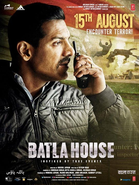"""Batla House"" all set to move hearts with its nationwide release on 15th August, 2019 with a true story based on various events 🇮🇳 John Abraham Mrunal Thakur #RaviKishan #KrishnanKumar #BhushanKumar #RiteshShah Divya Khosla Kumar Nikkhil Advani #RiteshShah T-Series Panorama Studios Emmay Entertainment & Motion Pictures JA Entertainment Bake My Cake Films #BatlaHouse #ConspiracyConqueredCorrectly  #AnandPanditMotionPictures #APMP"