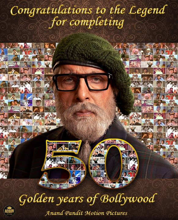 ‪Anand Pandit Motion Pictures wishes the legendary #AmitabhBachchan heartiest congratulations for the completion of 50 years in Bollywood! #TeamChehre #APMP #50YearsOfBigB #AmitabhBachchan #50YearsOfAmitabhBachchan Anand Pandit ‬