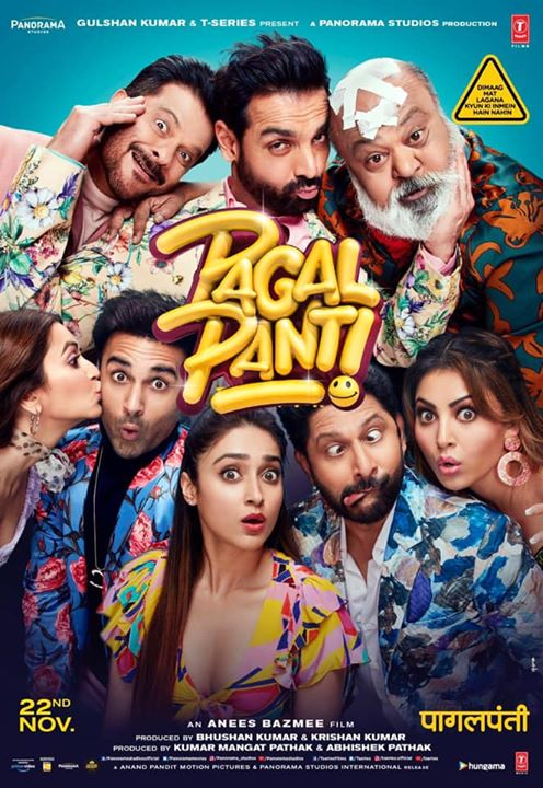 Anand Pandit Motion Pictures once again joins hands with Panorama Studios, the makers behind some of the largest box office hits, to bring to you the laughter riot #Pagalpanti! Produced by T-Series and #PanoramaStudios and directed by #AneesBazmee, Pagalpanti is all set to release in a theatre near you on November 22nd! . . John Abraham #KritiKharbanda #PulkitSamrat #ArshadWarsi #AnilKapoor #UrvashiRautela #IleanaDCruz Anand Pandit