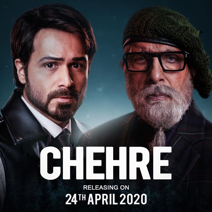 The much awaited mystery-thriller, #Chehre starring Amitabh Bachchan and Emraan Hashmi gets a new release date. Now, in cinemas from 24th April 2020.  #AnandPandit #RuumyJafry #AnnuKapoor Rhea Chakraborty Kriti Kharbanda Siddhanth Kapoor #RaghubirYadav #DhritimanChatterjee #SaraswatiFilms #APMP