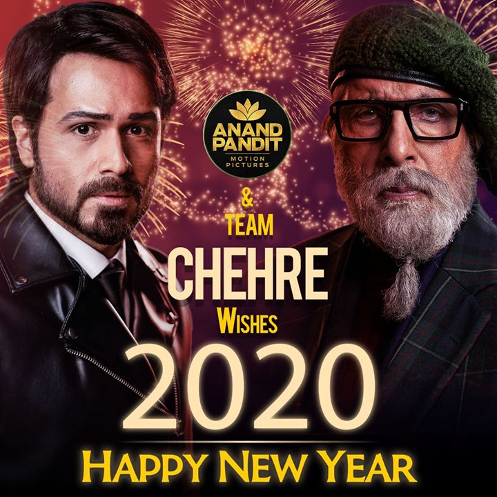 A new year with new hopes, opportunities, adventures and ways to give love. As we head towards a new decade, we want to thank everyone for all the love and support. #APMP & team #Chehre wishes you a very Happy New Year. #Welcome2020 #2020NewYear Amitabh Bachchan Emraan Hashmi #AnandPandit #RuumyJafry #AnnuKapoor Rhea Chakraborty Krystle Dsouza Siddhanth Kapoor #RaghubirYadav #DhritimanChatterjee #SaraswatiFilms