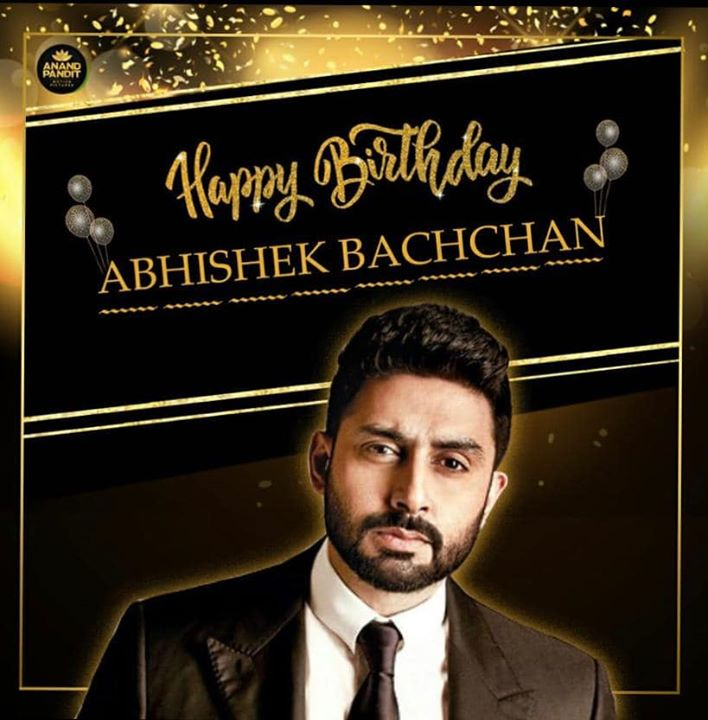 Here's wishing the extremely talented,  good looking and our upcoming film #TheBigBull's lead actor Abhishek Bachchan a very Happy Birthday! #APMP Abhishek Bachchan #HappyBirthdayAbhishekBachchan #TheBigBull