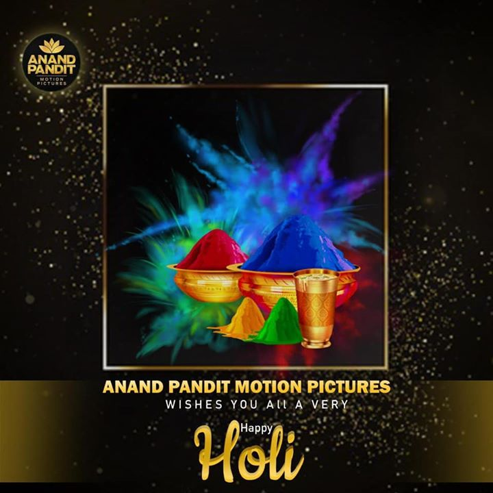 Wishing you all a very happy holi. Hope the colors of holi spread joy and happiness in your life. Have a safe and happy festival with all your loved ones. . . . #HappyHoli #HoliCelebration #FestivalLove #AnandPandit #AnandPanditMotionPictures #APMP