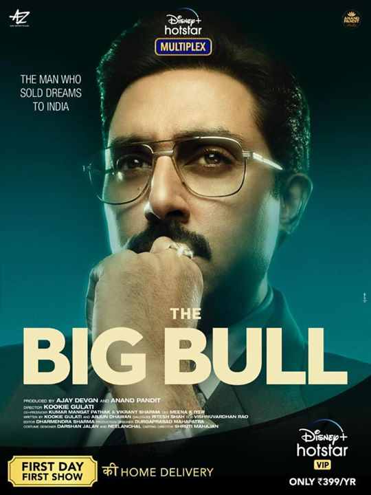#TheBigBull - an exceptional tale of a man who sold dreams to India. So thrilled to get this home delivered to you where you'll get to watch the First Day First Show with #DisneyPlusHostarMultiplex only on Disney+ Hotstar . . . Abhishek Bachchan #IleanaDcruz #SohumShah Nikita Dutta #KookieGulati #KumarMangat Ajay Devgn ADFFilms #MeenaIyer #VikrantSharma #AnandPandit