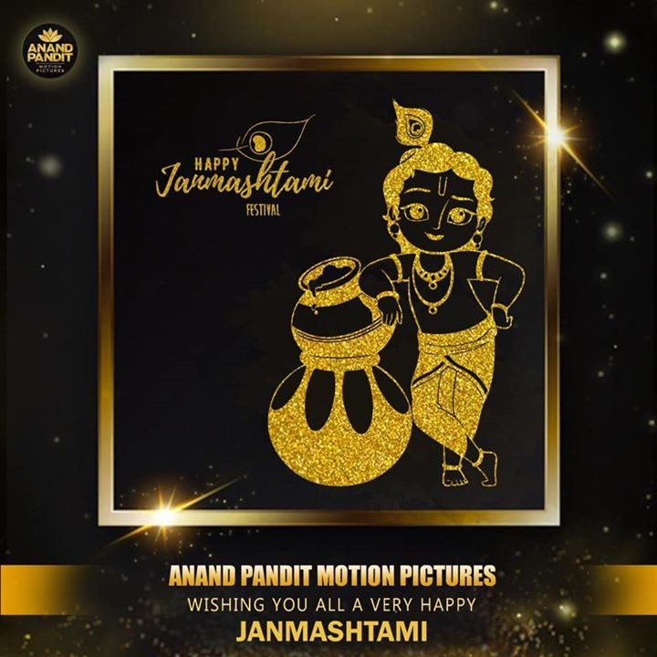 Let there be love, happiness and laughter in your life with Lord Krishna's blessings. Wishing you and your family a very happy Janmashtami! . . . #HappyJanmashtami #Janmashtami #HappyFestival #Celebration #AnandPandit #AnandPanditMotionPictures #APMP