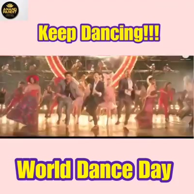 Take more chances and dance like nobody's watching!!! Wishing everyone a very happy World Dance Day from Anand Pandit Motion Pictures! . . #WorldDanceDay #InternationalDanceDay #Dance #APMP #AnandPanditMotionPictures #TotalDhamaal #PyaarKaPunchnama2 Anand Pandit