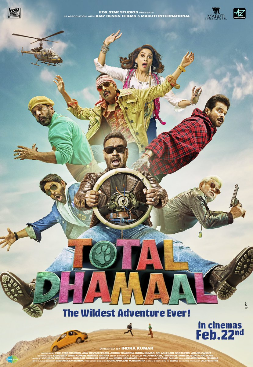 RT @ajaydevgn: Aaj hoga sirf Total Dhamaal. Trailer out at 2 PM. https://t.co/SnkRBi7IvP