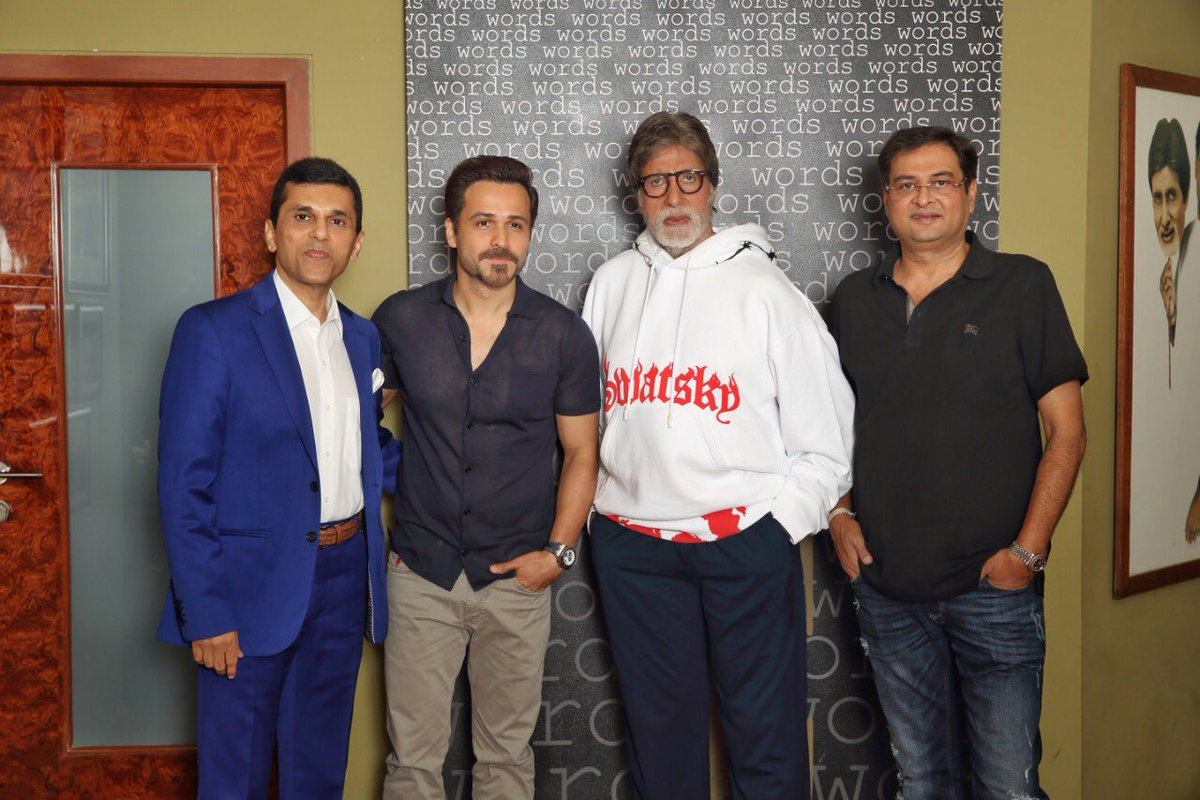 Excited and elated to announce my next production starring @srbachchan and @emraanhashmi, directed by #RumiJaffery! Releasing in cinemas on 21st February 2020.  @apmpictures #APMP https://t.co/YjlaDjGbPV