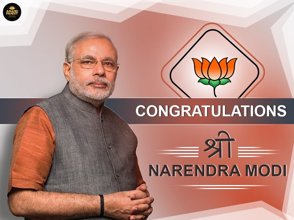 A new history has once again been created as Indians globally celebrate!  @narendramodi shall inspire, rise and help our country grow into becoming a global power!  #ModiSweep https://t.co/1R7olxcw2U