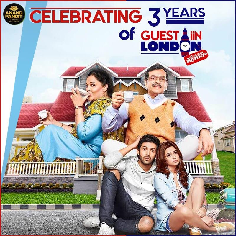 Revisiting the madness, fun and laugh riot bought 3 years back by the team of Guest In London. Celebrating #3yearsofGuestInLondon #MovieAnniversary #GuestInLondon #PareshRawal #TanviAzmi #KumarMangatPathak @kriti_official @TheAaryanKartik https://t.co/rIiyZehDcd