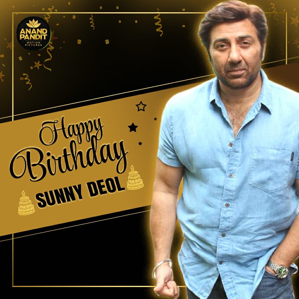 Here's wishing the supremely talented and power-house of an actor Sunny deol,a very Happy Birthday. Sending across dhai-kilo worth of love, happiness, laughter and more. Happy Birthday @iamsunnydeol . . #HappyBirthday #HappyBirthdaySunnyDeol #SunnyDeol https://t.co/MAuJ0MseBR