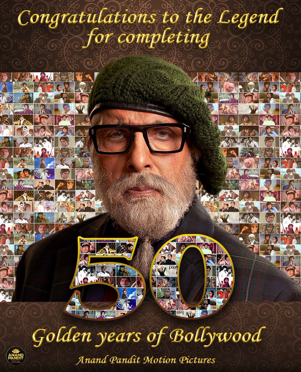 50 years back the world saw the rise of a Shahenshan, 50 years later the world is still in awe of him. To the man who continues to inspire millions, to the icon who needs no introduction, wishing @SrBachchan who shared 50 years of his life with us.  #50YearsOfBigB #APMP https://t.co/udfBUDebPi