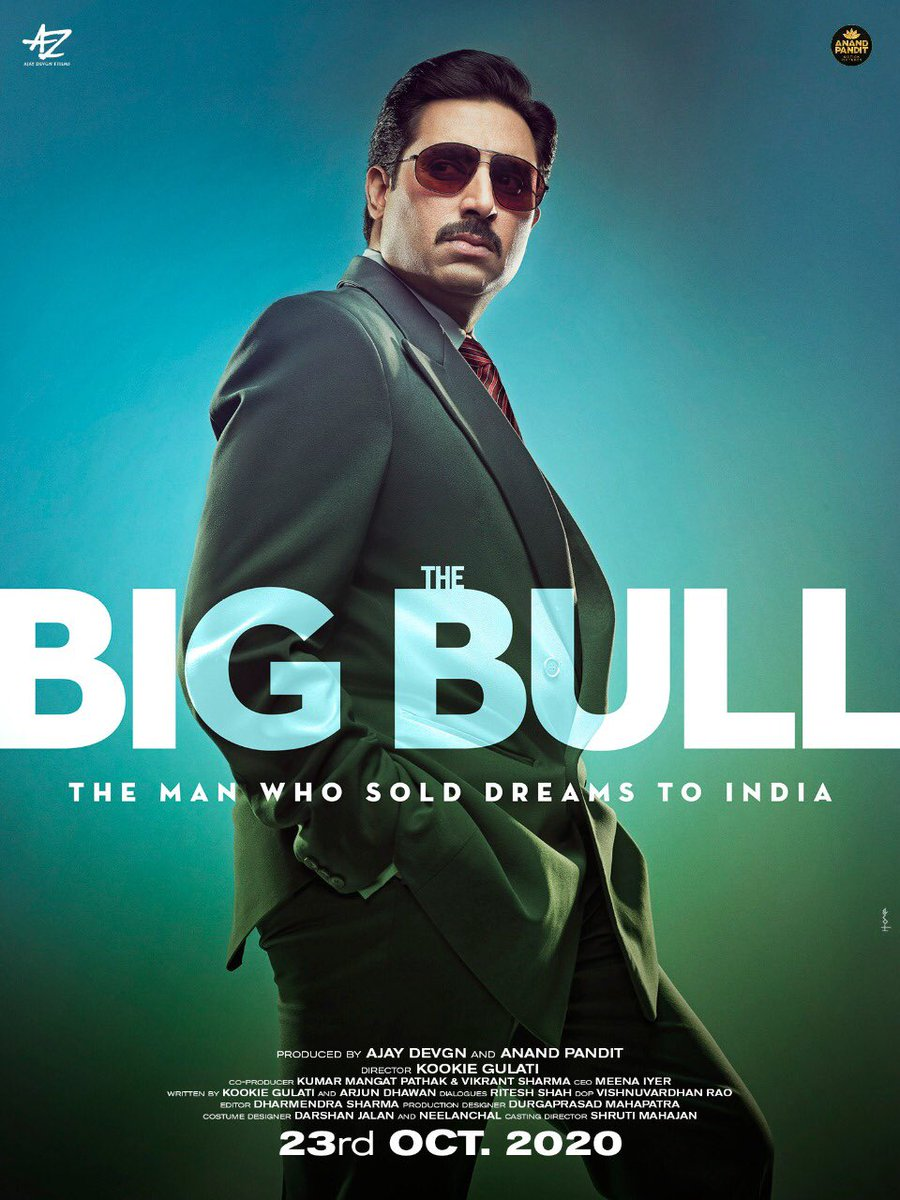 We, at Anand Pandit Motion Pictures and Ajay Devgan films are happy to announce the much-awaited financial crime-drama starring Abhishek Bachchan,  #TheBigBull, all set to release on 23rd October 2020! . @juniorbachchan @Ileana_Official @s0humshah @nikifyinglife @kookievgulati https://t.co/3RUlQ7iMqj
