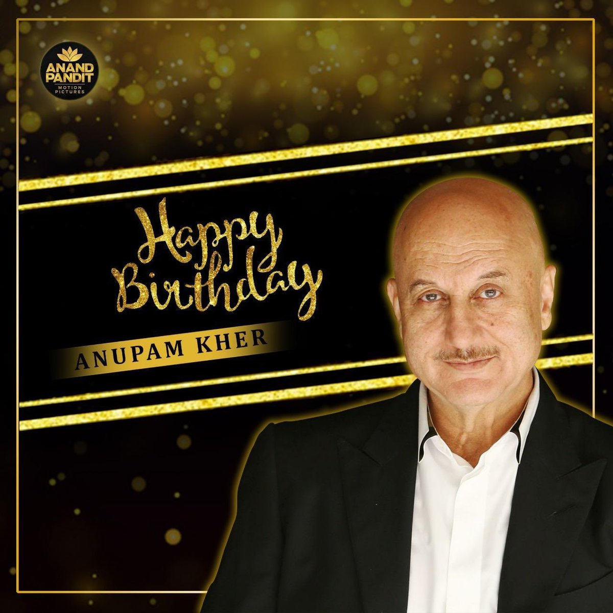 Wishing the most loved figure of our industry @AnupamPKher. Hope you have a happy and an amazing year ahead.  . #HappyBirthday #HappyBirthdayAnupamKher https://t.co/0lt54Rtil5
