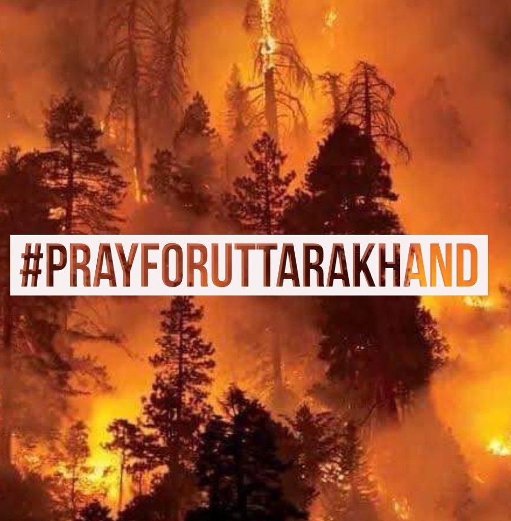 The world is facing a huge loss of nature since the beginning of the year. Heartbreaking pictures are coming in from the beautiful state of Uttarakhand! Lets all pray  for this catastrophe to stop with no more harm to any of the wildlife residing in there! #PrayForUttarakhand https://t.co/G6oq1TQZRR