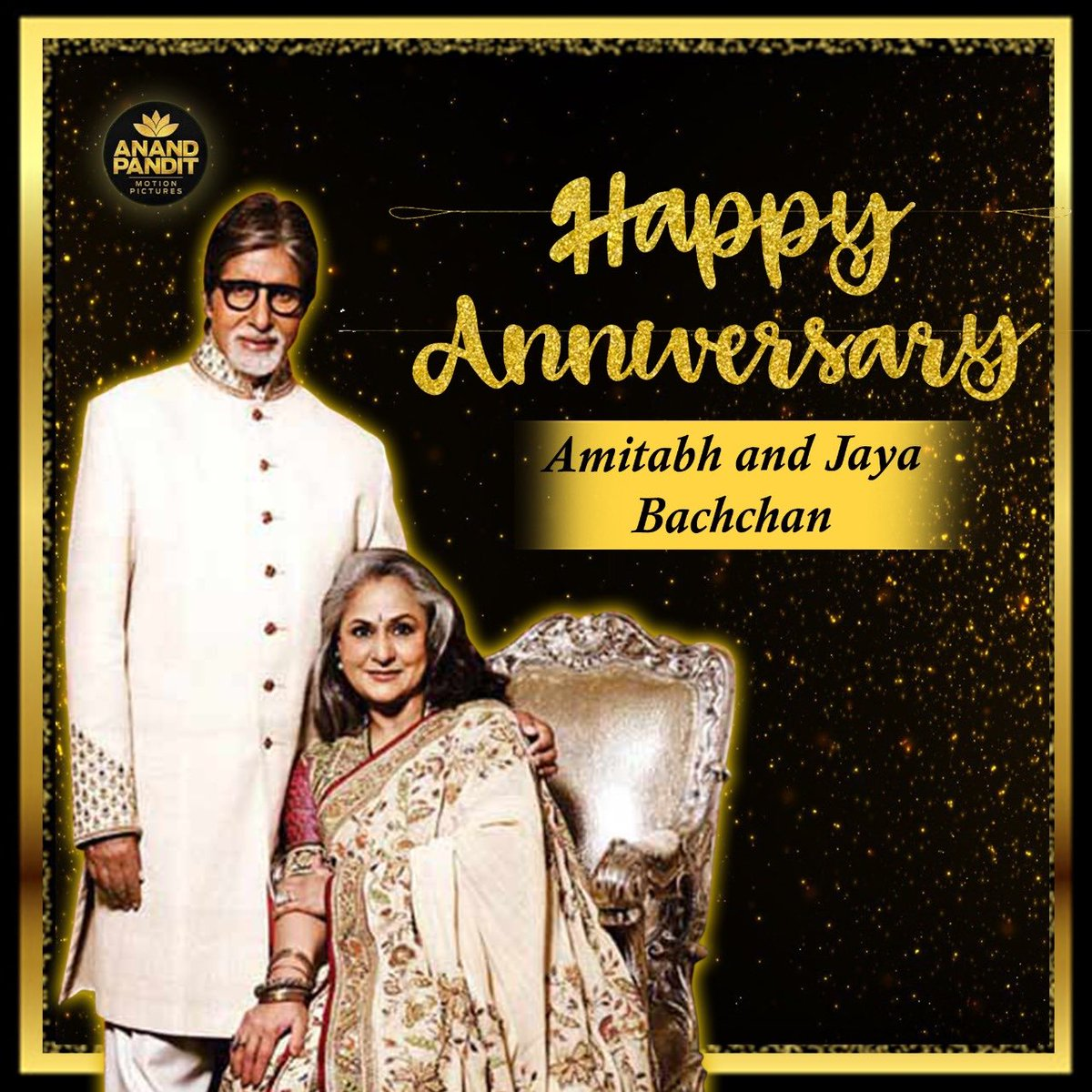 Happy anniversary to the most loved and dignified couple on and off screen. Amitji and Jayaji, you'll have truly transformed the concept of love over these years! @SrBachchan #JayaBachchan #HappyAnniversaryABJB https://t.co/7eRulM3SUP