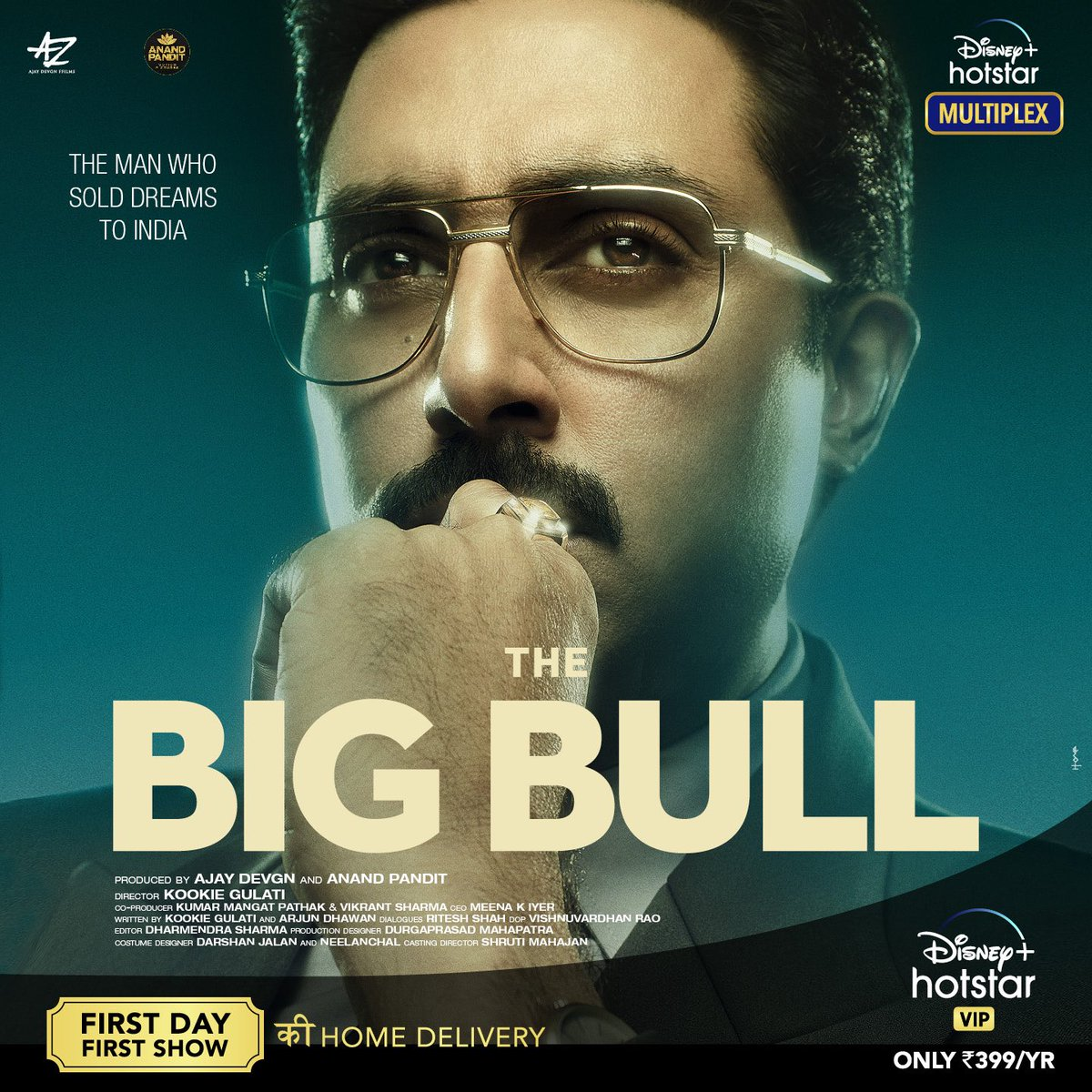 #TheBigBull - an exceptional tale of a man who sold dreams to India. So thrilled to get this home delivered to you where you'll get to watch the First Day First Show with #DisneyPlusHostarMultiplex only on @DisneyPlusHSVIP @juniorbachchan @Ileana_Official https://t.co/0Vt7Y3ufHK