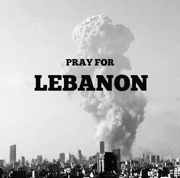 Deeply saddened by the tragic news coming from Beirut. I extend my condolences to the families of those who fell prey to the devastating explosion! Wishing the injured a speedy recovery. My thoughts and prayers are with the people of Lebanon.  #Lebanon #Beirut https://t.co/F4hrmr1b3A