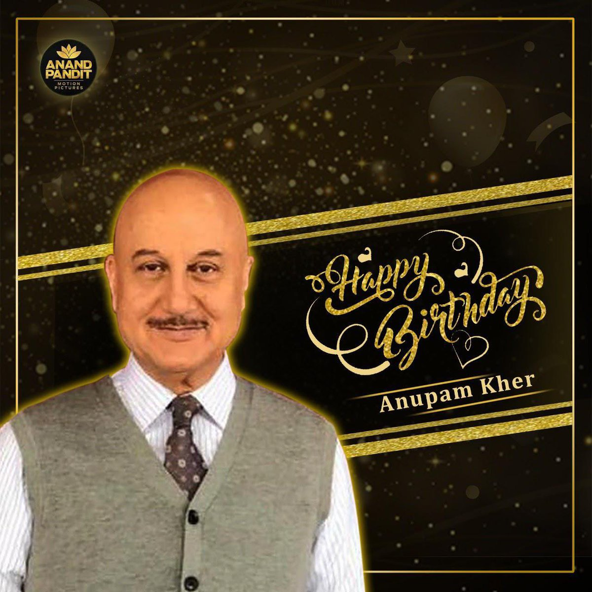 Happy birthday to one of the most loved figures in Indian cinema @AnupamPKher. May god bless you with abundance!! https://t.co/FnVSdqJQBB