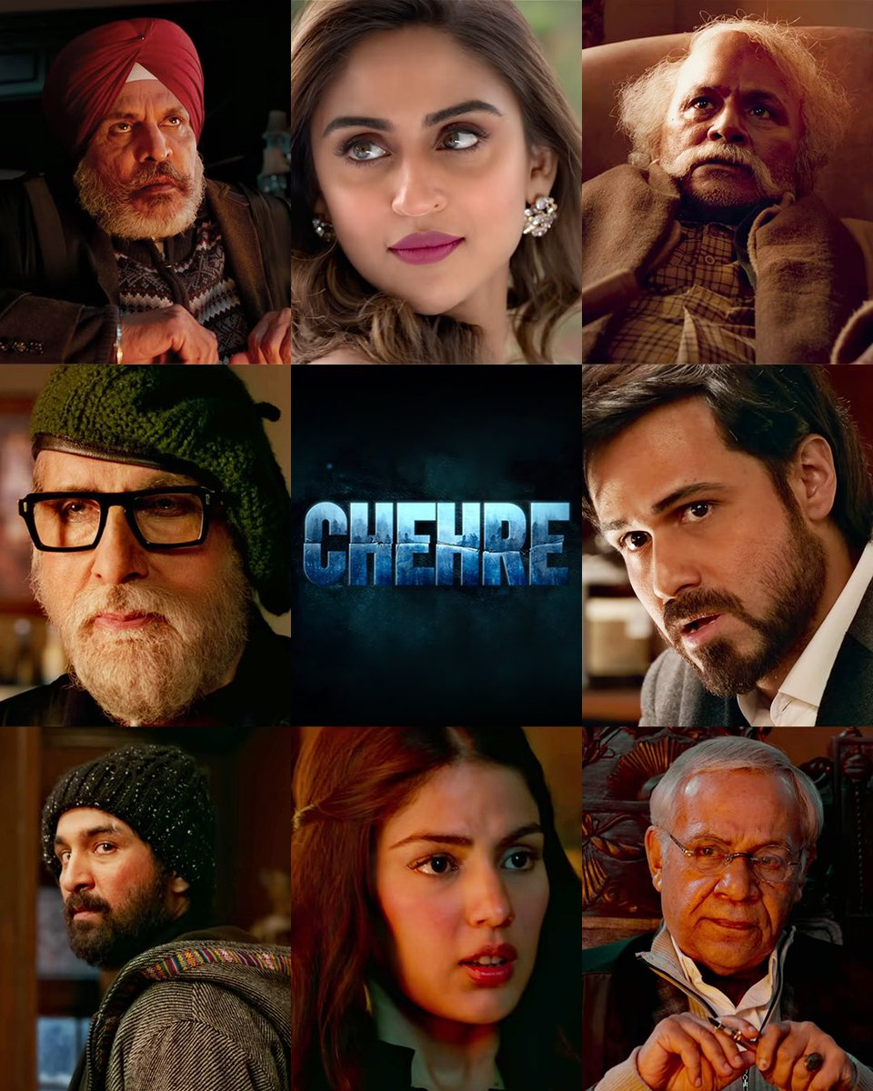 a dangerous snow storm in the mountains. an ad agency executive. an old man who's a criminal lawyer. and his clan of veteran friends. we hope you also have a penchant for real life games 🎭  #ChehreOnPrime, watch now on @PrimeVideoIN :https://t.co/1onwLPoqu7  @PrimeVideoIN https://t.co/oj7LRfoYIc
