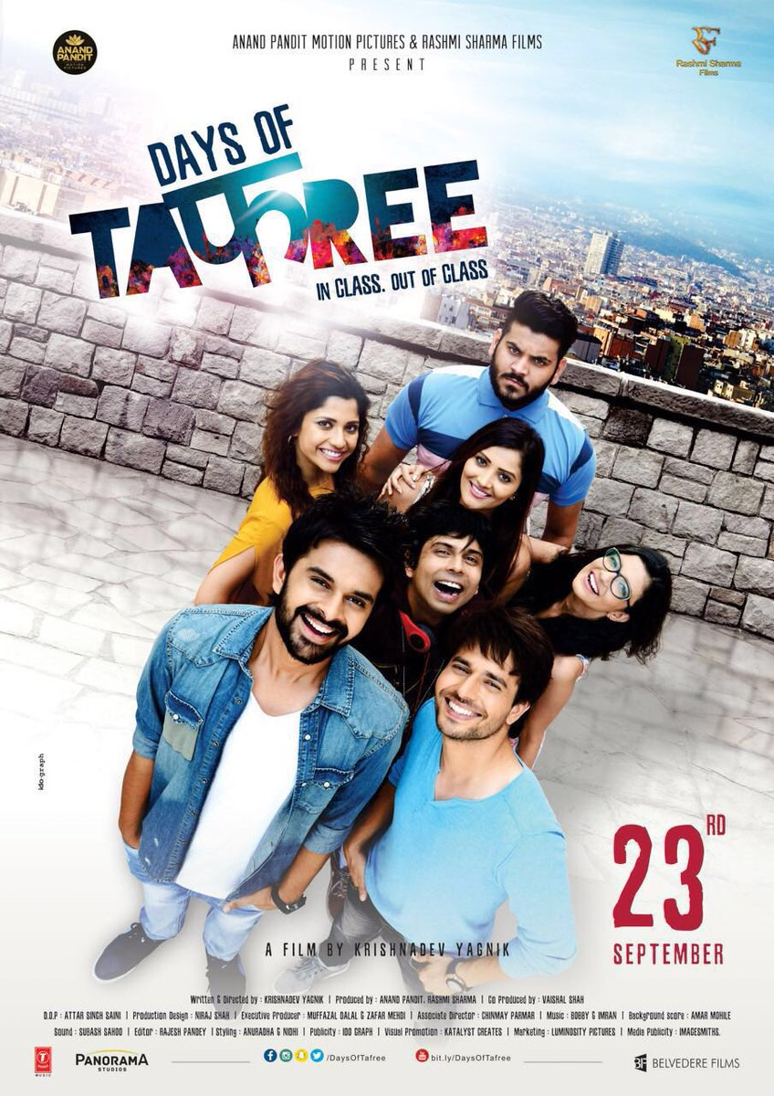 RT @taran_adarsh: New poster of #DaysOfTafree... First song releases today... Film releases 23 Sept. https://t.co/BAHJIfFSLk