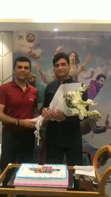 This is only one of the first successes we are celebrating together Indra Kumar!  As you rightly said our association shall continue and the bond shall get stronger! #TotalDhamaal #IndraKumar  #AnandPanditMotionPictures #Blockbuster #SuperHit  @Indra_kumar_9 https://t.co/zyRt7vXXmN