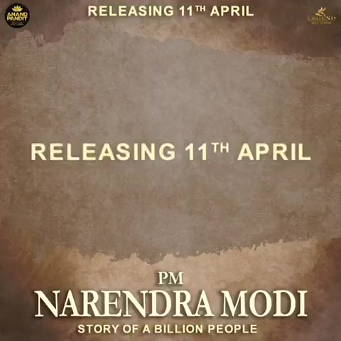 PM Narendra Modi coming in theatres near you in 3 days! #Modithefilm #11thApril #AnandPictures #anandpanditmotionpictures https://t.co/HW7tsAa4Bp